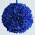 4 x MAKES ME SMILE Kissing Balls - Royal Blue Hydrangeas