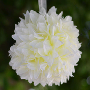 Cream Artificial Dahlia Kissing Flower Balls Wedding Hanging Decor - Buy 1 Get 3 Free