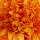 Orange Artificial Dahlia Kissing Flower Balls Wedding Hanging Decor - Buy 1 Get 3 Free