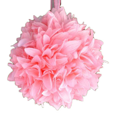 "4 Pack 7"" Pink Artificial Dahlia Flower Kissing Ball"