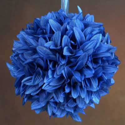 Royal Blue Artificial Dahlia Kissing Flower Balls Wedding Hanging Decor - Buy 1 Get 3 Free