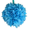 "4 Pack 7"" Turquoise Artificial Dahlia Flower Kissing Ball 