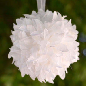 White Artificial Dahlia Kissing Flower Balls Wedding Hanging Decor - Buy 1 Get 3 Free