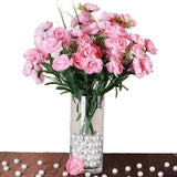 4 Bush 72 pcs Pink Artificial Buttercup Bulb Flowers