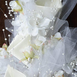 Hand-crafted Bouquet of Tulips & Lillies - Cream