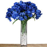 4 Bush 36 pcs Blue Artificial Large Iris Flowers
