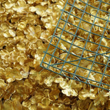 11 Sq Ft | 4 Panels  UV Protected Gold Hydrangea Flower Wall Mat Panel