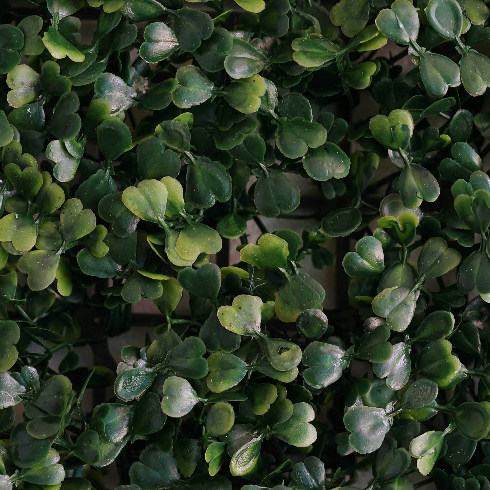 Artificial Boxwood Foliage And Clover Garden Wall Mat 4pk
