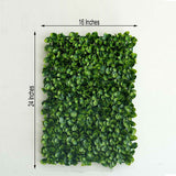 11 Sq ft. | 4 Panels Artificial Boxwood Hedge Faux Small Leaves Foliage Green Garden Wall Mat