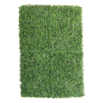 11 Sq ft. | 4 Panels Artificial Boxwood Hedge Genlisea Foliage Green Garden Wall Mat
