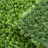 11 Sq ft.  | 4 Panels Artificial Lime Green Boxwood Hedge Genlisea Faux Foliage Green Garden Wall Mat