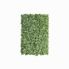 11 Sq ft. | 4 Panels Artificial White/Green Boxwood Hedge Faux Foliage Green Garden Wall Mat