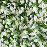 4 Pack 11 Sq ft. Artificial Boxwood Hedge Elliptical Leaves Foliage Green Garden Wall Mat - White/Green