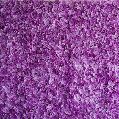 11 Sq Ft | 4 Panels UV Protected Purple Hydrangea Flower Wall Mat Panel