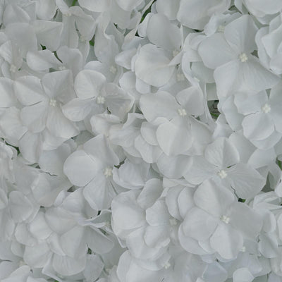 11 Sq Ft | 4 Panels UV Protected White Hydrangea Flower Wall Mat Panel