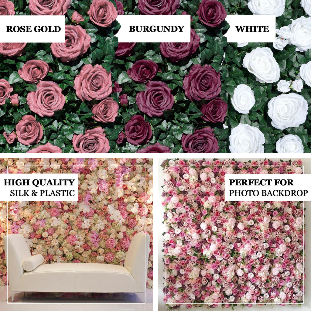 Flower Wall Panels | Wedding Backdrop | Flower Wall Decor |  TableclothsFactory