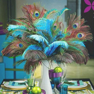 "16"" Real Peacock Feathers"