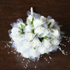 24 Pcs Cream Artificial Handcrafted Rose Flowers