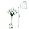 6 Bush 42 pcs Ivory Artificial Velvet Rose Bud Flowers