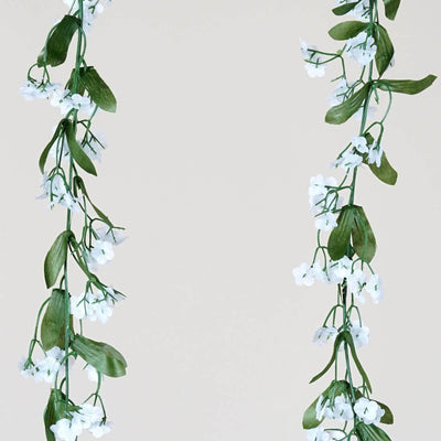 6FT Artificial White Baby Breath Garland For Wedding Arch Gazebo Home Decor - 6PCS