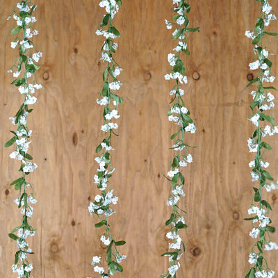 6FT Pack of 6 Artificial White Baby Breath Garland Arch Gazebo Home Decor
