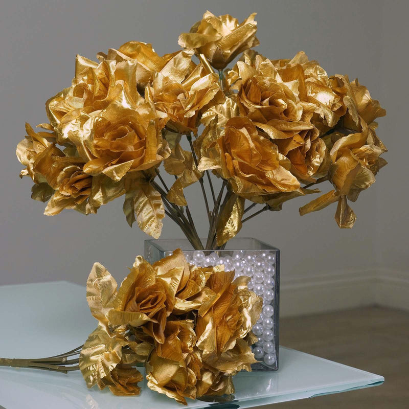 GOLD FLOWERS | Tableclothsfactory