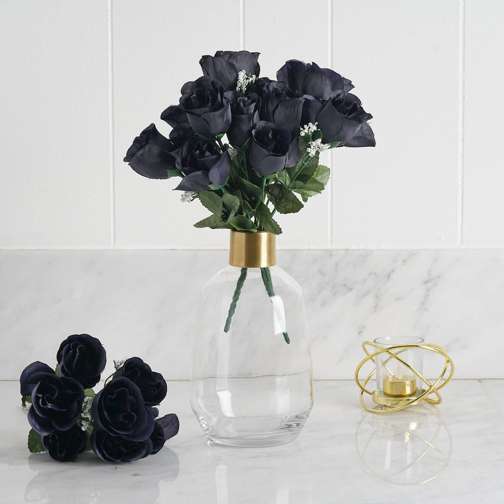 84 Artificial Silk Rose Buds Wedding Flower Bouquet Centerpiece