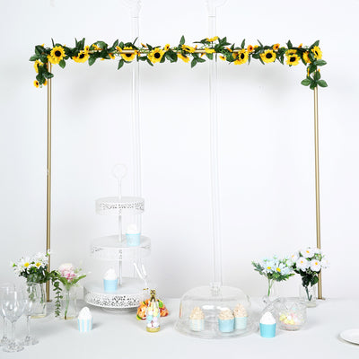 6 Ft Yellow UV Protected Sunflower Chain Artificial Flower Garland