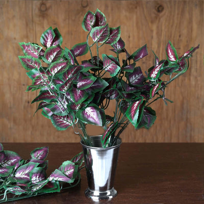 Green/Purple IVY Coleus Leaf Bushes Wedding Arch Gazebo Floral Decoration