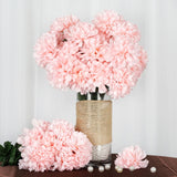 4 Bush | 56 Pcs | Blush Artificial Silk Chrysanthemum Flowers