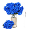 4 Bush 56 pcs Royal Blue Artificial Silk Chrysanthemum Flowers - Clearance SALE