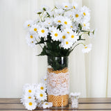 4 Pack 88 Pcs White Artificial Silk Daisy Flowers