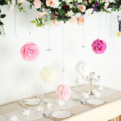 Flower Ball, Silk Rose Pomander Kissing Ball
