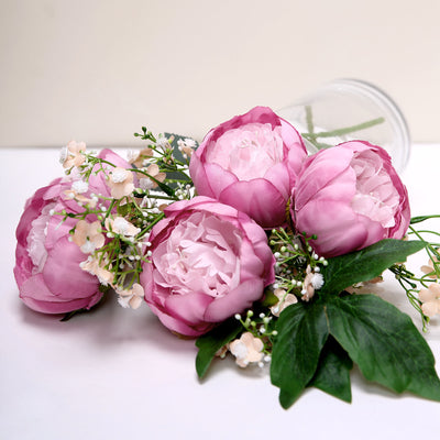 10 Pack | 3inch Lavender/Pink Silk Peonies Artificial Flower Heads