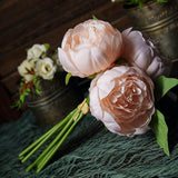 5 heads artificial silk flower, peony bouquet, wedding flower bouquet