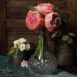 Artificial Silk Peonies, Peony Bouquet, Wedding Flower Bouquet