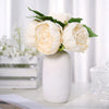 10inches Tall | Beige 5 Heads Silk Peonies, Artificial Peony Flower Bouquet
