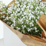 White Babys Breath Artificial Flowers, Gypsophila Real Touch Silk Flowers Stem