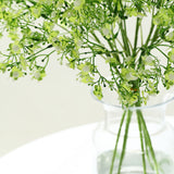 4 Pack | 27inch Lime Babys Breath Artificial Flowers, Gypsophila Real Touch Silk Flowers Stem