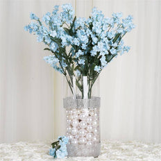 "20"" Artificial Silk Baby Breath Wedding Flower Bouquet Centerpiece Decor- Lt. Blue-dz/pk"