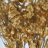 12 Bushes Gold Artificial Silk Baby Breath Flowers