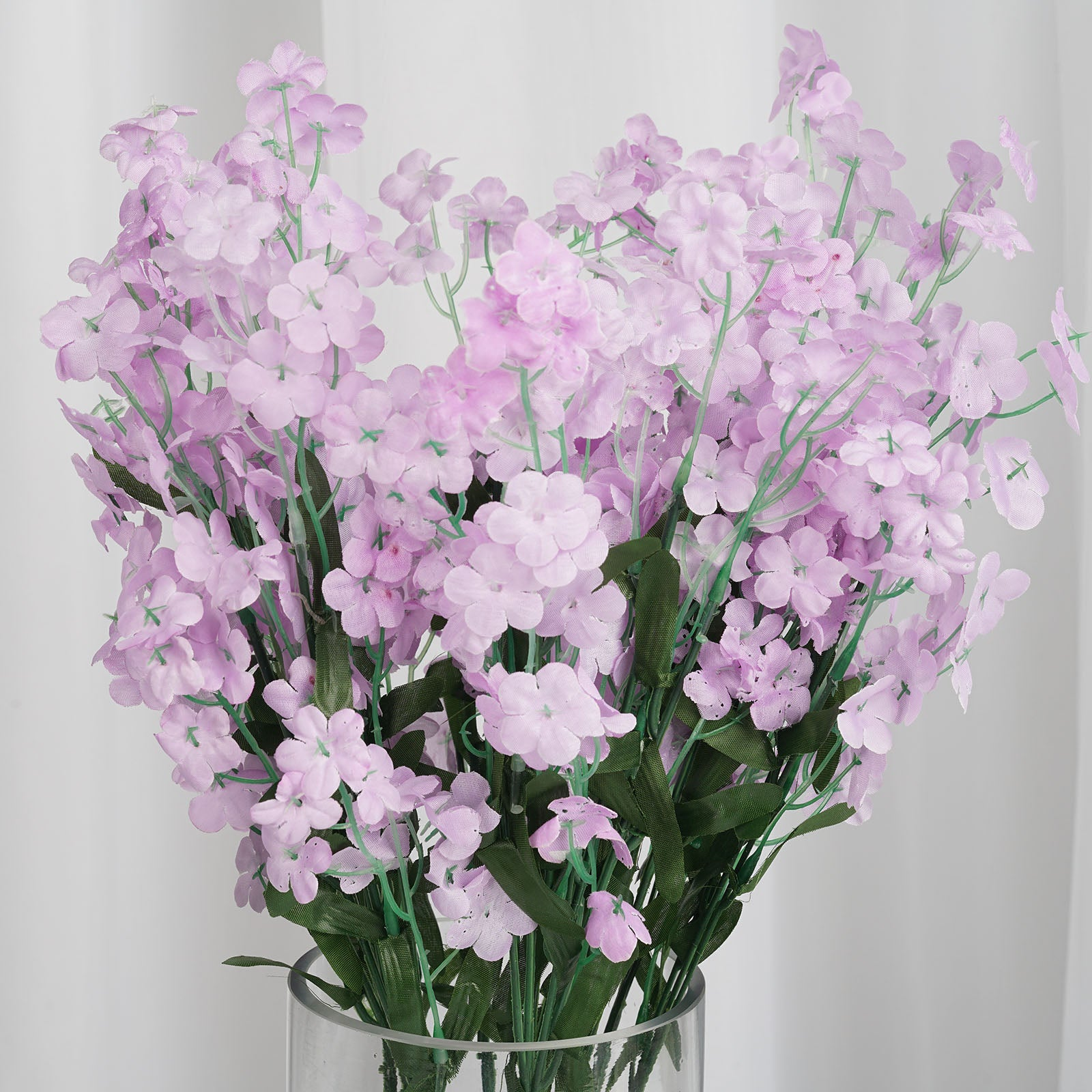12 Bushes Lavender Artificial Silk Baby Breath Flowers Tableclothsfactory