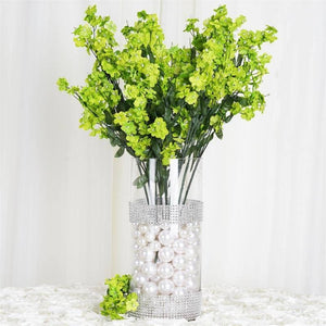 "20"" Artificial Silk Baby Breath Wedding Flower Bouquet Centerpiece Decor - Lime- 12 Stems/pk"