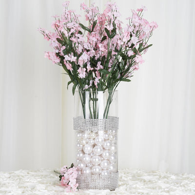 12 Bushes Pink Silk Artificial Baby's Breath Bulk