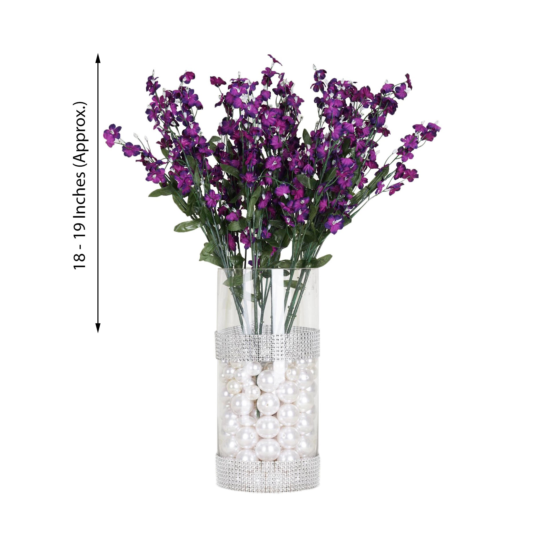 12 Bushes Purple Artificial Silk Baby Breath Flowers Tableclothsfactory
