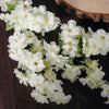 "4 Bushes | 40"" Tall Cream Silk Artificial Flowers Faux Cherry Blossoms Branches"