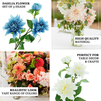 Dahlia Flower Stem, Artificial Flower Spray, Real Touch Flowers