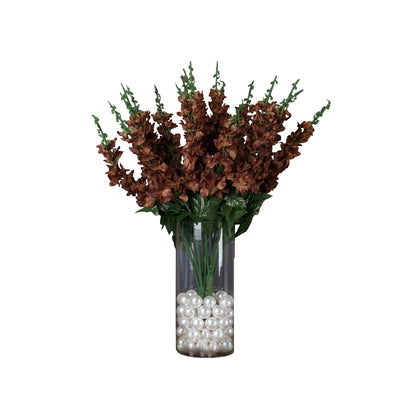 3 Bushes | 24'' | Chocolate | Artificial Delphinium Flowers