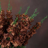 3 Artificial Delphinium Bushes Wedding Vase Centerpiece Decor - Chocolate