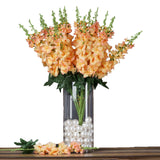 3 Artificial Delphinium Bushes Wedding Vase Centerpiece Decor - Peach
